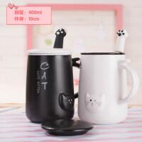 【新品热卖】创意简约马克杯带盖勺可爱杯子陶瓷牛奶咖啡杯韩版女学生潮流水杯