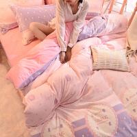 床上珊瑚绒四件套双面绒法莱绒被套冬季加厚加绒法兰绒床单牛奶绒定制 2.0m床单款 适合被子220*240cm