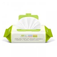 植护厂家直销婴儿湿巾80抽带盖 宝宝手口湿纸巾bb大包湿巾纸起拍