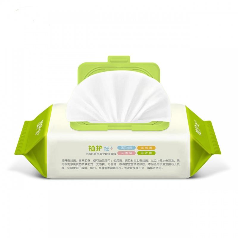 植护厂家直销婴儿湿巾80抽带盖 宝宝手口湿纸巾bb大包湿巾纸起拍 买4送1,优惠多多