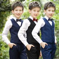 花童男孩主持人儿童西装钢琴表演演出服装小西服男童礼服马甲套装