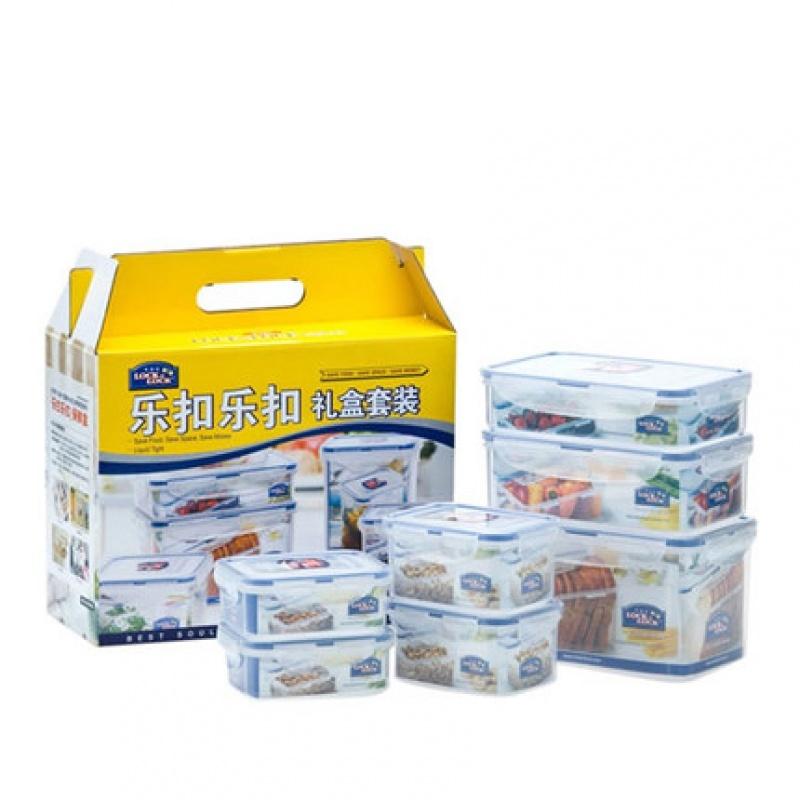 乐扣乐扣塑料保鲜盒套装密封防漏储物盒微波炉便当盒HPL818S002