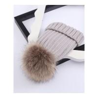 帽子女秋冬季韩版休闲百搭毛球毛线帽子女冬天潮韩国女士针织帽