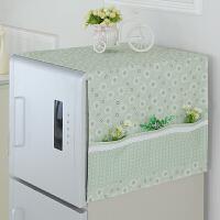 冰箱罩冰箱巾盖布冰柜 布艺田园单双开门冰箱防尘罩定制 65*170cm 双开门冰箱巾