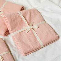 水洗棉日式单件床单肤良品单双人素色简约床单床笠定制