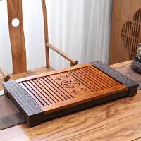 唐丰花梨实木茶盘家用立体浮雕茶台镂空雕刻大茶几办公室储排两用