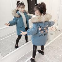 女童棉衣新款冬装儿童装棉袄小女孩中长款加厚冬季外套洋气潮