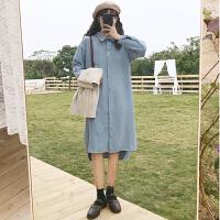 三木子快时尚女装~韩版宽松中长款衬衣女