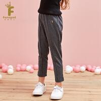 [2件5折到手价:99.5]法纳贝儿18秋冬新款女童时尚设计学院风休闲长裤EH3K05
