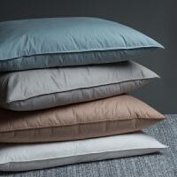 羽绒枕头枕芯单人羽毛护颈枕j定制 灰色 羽绒枕