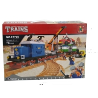 儿童奥斯尼颗粒火车拼装积木男孩拼插玩具学生积木礼物8-10-12岁 25709载车火车积木拼装