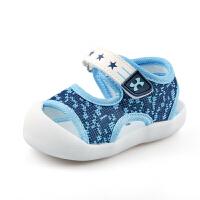 1一2-3岁宝宝软底包头鞋 婴儿学步鞋女小童鞋子夏季男宝宝凉鞋
