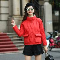 轻薄羽绒服女短款新款韩版两面穿宽松时尚小个子立领冬外套潮