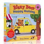 进口英文原版绘本 Bizzy Bear Happy Holiday 小熊很忙系列 忙碌的小熊 快乐的假期 机关操作纸板