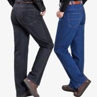 中年秋冬款男士休闲裤牛仔裤春秋款大码宽松裤中老年人高腰工装裤