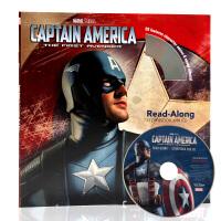 美国队长 复仇者联盟Captain AmericaThe First Avenger英文原版绘本 有声独立阅读书附CD
