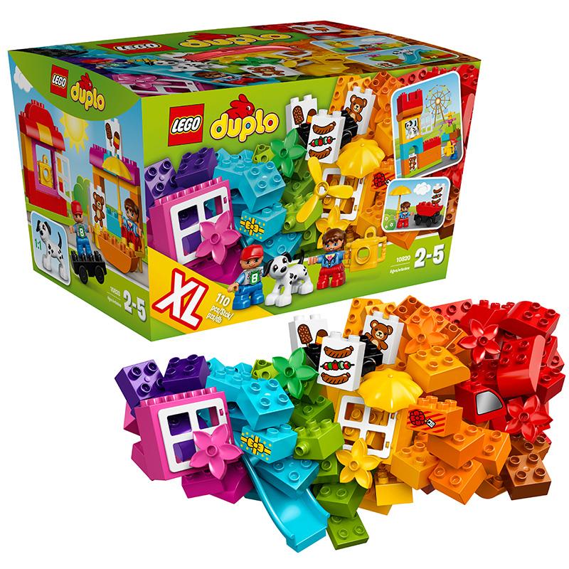 [当当自营]LEGO 乐高 DUPLO得宝系列 乐高?得宝?创意拼砌篮 积木拼插儿童益智玩具10820【当当自营】适合2-5岁,110pcs小颗粒积木