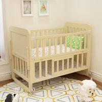 华子实木婴儿床宝宝床儿童床摇篮床小童床送蚊帐支持货可贴牌 102cm*60cm*90.5cm