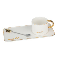 【好货】陶瓷咖啡杯ins风套装家用欧式马克杯简优雅约情侣杯子一对情侣款