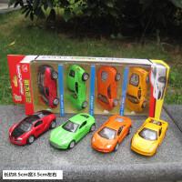 儿童迷你合金车模小汽车模型男孩玩具车玩具小车套装小孩回力警车