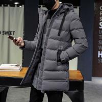 新款冬季男士棉衣青年韩版潮男装外套中长款冬装加厚修身棉袄子潮 9588灰色 M收藏店铺优先发货