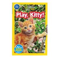 英文原版绘本 National Geographic play,kitty! 美国国家地理 Level 1儿童科普图画