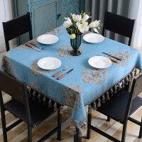 欧式桌布布艺正方形台布餐桌布小方桌家用八仙桌四方客厅茶几麻将