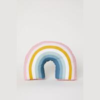 家居用品新款印花棉布彩虹造型U形靠垫定制 多彩 均码