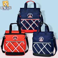 小学生男女补习包1-3-6年级书包公主美术包手提袋儿童包包斜挎包