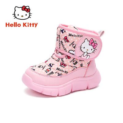 HelloKitty凯蒂猫童鞋女童雪地靴2019冬季新款儿童加厚棉靴女孩保暖靴子K9546836
