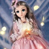 芭比娃娃 新年礼物 正品 乐馨儿芭比娃娃超大号单个 女孩公主bjd仿真26关节45厘米洋娃娃 小亚公主