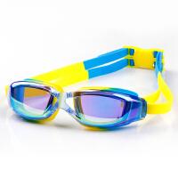 儿童泳镜宝宝游泳装备眼镜泳镜男童女童透明炫彩泳镜