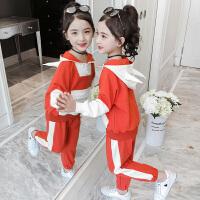 女童网红运动韩版潮衣2019新款大童装套装洋气卫衣7岁8