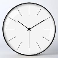 现代简约挂钟客厅个性创意时尚家用大气时钟北欧艺术静音钟表装饰 12英寸