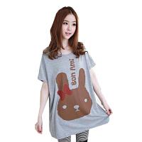 慈颜CIYAN 孕妇装 可爱兔子蝙蝠袖T恤 短袖T恤 宽松大码XDW12032