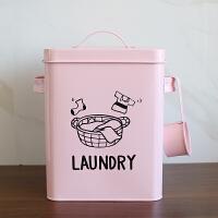 洗衣粉收纳桶 居家简单洗衣粉桶铁储米箱零食盒收纳盒密封储存桶罐送勺B
