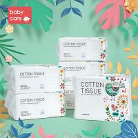 babycare婴儿棉柔巾宝宝干湿两用纯棉加厚新生儿非湿纸巾 100*6包(花鸟款)