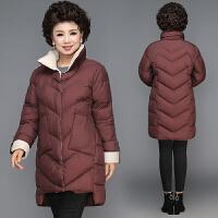 中老年棉衣女40岁50气质中年女装羽绒中长款棉袄妈妈冬装外套
