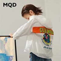 【2件3折:144】MQD童装男童连帽衬衫2020春季新款儿童净色休闲中大童衬衣韩版潮