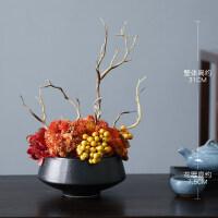 新中式禅意仿真花摆件高品质玄关客厅摆设装饰假盆栽家居假花
