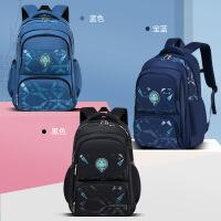新款小学生书包韩版休闲儿童包包1-3-6年级侧冰箱式学生双肩背包