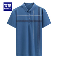 【2折预估到手价:93叠券更优惠】罗蒙男士条纹Polo衫2021夏季新款商务休闲短袖T恤衫中青年打底衫