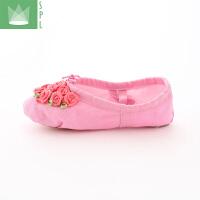 幼儿学生鞋手工舞鞋儿童舞蹈鞋女孩跳舞鞋软底宝宝练功鞋芭蕾舞鞋