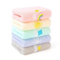 洁丽雅儿童毛巾 纯棉洗脸家用卡通可爱童巾宝宝吸水小毛巾 5条装