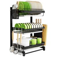不锈钢厨房置物架碗架挂壁挂式晾放碗碟盘子餐具收纳盒碗筷沥水架