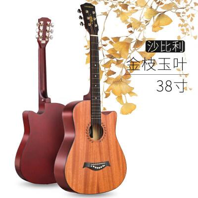 安德鲁38寸民谣初学者入门吉他学生用自学练习木吉他男女生吉它 38寸易学在线教学保修2年初学
