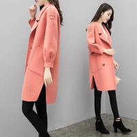毛呢大衣韩版秋装新款宽松呢子大衣中长款冬季毛呢外套女潮