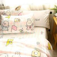可爱卡通纯棉四件套田园碎花多款床上用品被套床单款L08定制