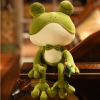ins青蛙安抚抱枕头毛绒玩具公仔婴儿玩偶陪睡觉布娃娃女生日礼物 软体青蛙
