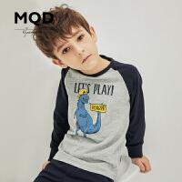 MQD童装男童印花内衣套装冬季新款男孩睡衣儿童保暖棉质秋衣秋裤